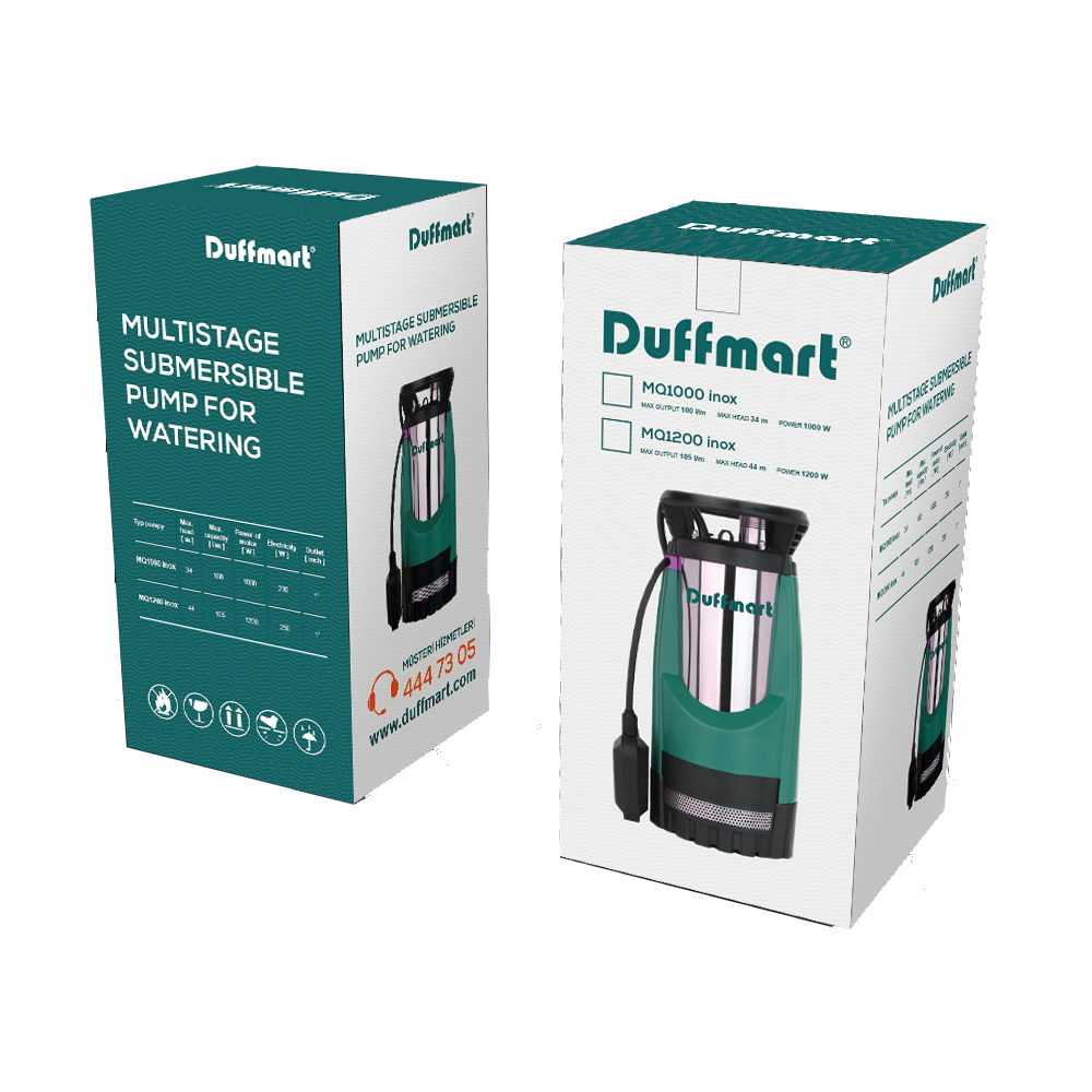DM42202-Duffmart MQ Multi 1200 Kademeli Dalgıç Pompa