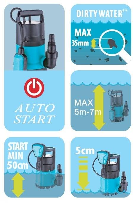 Duffmart FSP550DW Pis Su Drenaj Dalgıç Pompası