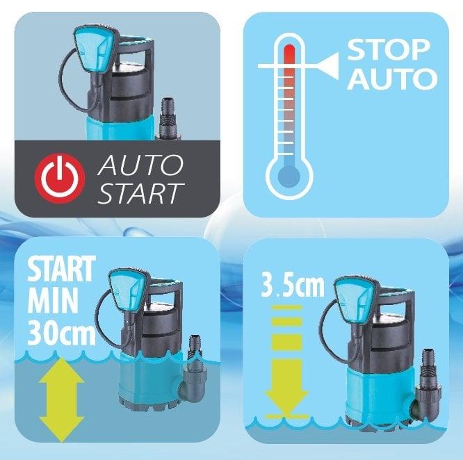 Duffmart FSP750C Temiz Su Dalgıç Pompası