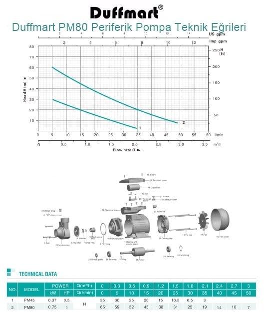 Duffmart PM80 Periferik Pompa